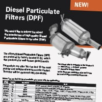New! Diesel Particulate Filters (DPF)