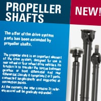 New! Propeller shafts