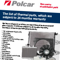 Radiators, heaters and A/C parts - 24 months warranty