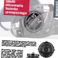 Silniki sterowania lusterka zewnętrznego
