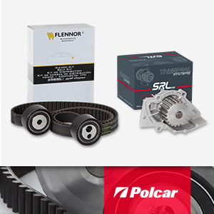 NEW! The timing belt kits of Flennor with the water pump of SRLine