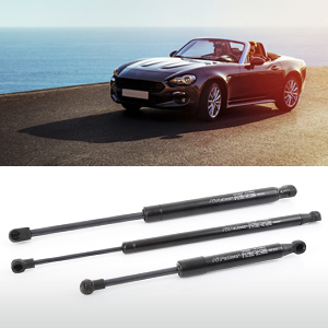 Gas springs dedicated to convertible cars