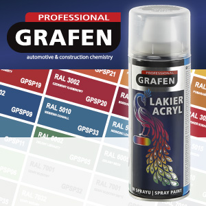 Acrylic spray lacquers Grafen Professional