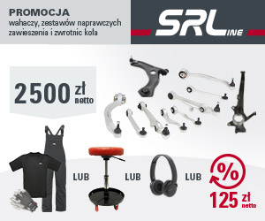 SRLine: wahacze, zestawy naprawcze zawieszenia i zwrotnice